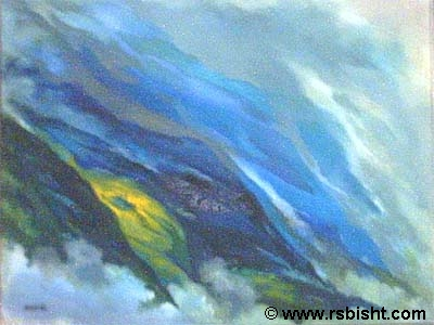 Blue Series - paintings by artist RS Bisht
