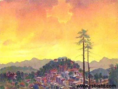 Earthy Hues - paintings by artist RS Bisht