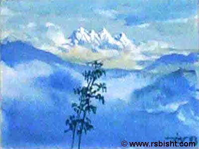 Refreshing Hills - paintings by artist RS Bisht